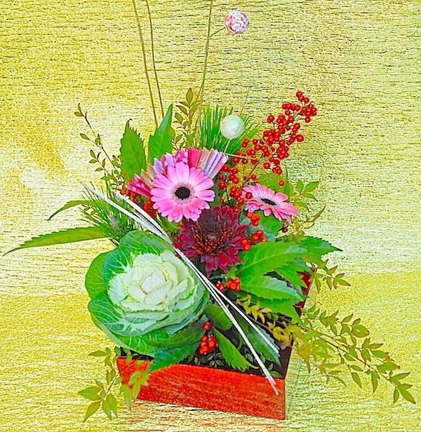 新年のお花[てまり]