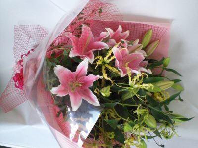 エレガントなピンク系 花束