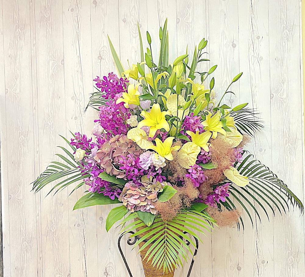 開店祝い贈呈用スタンド花