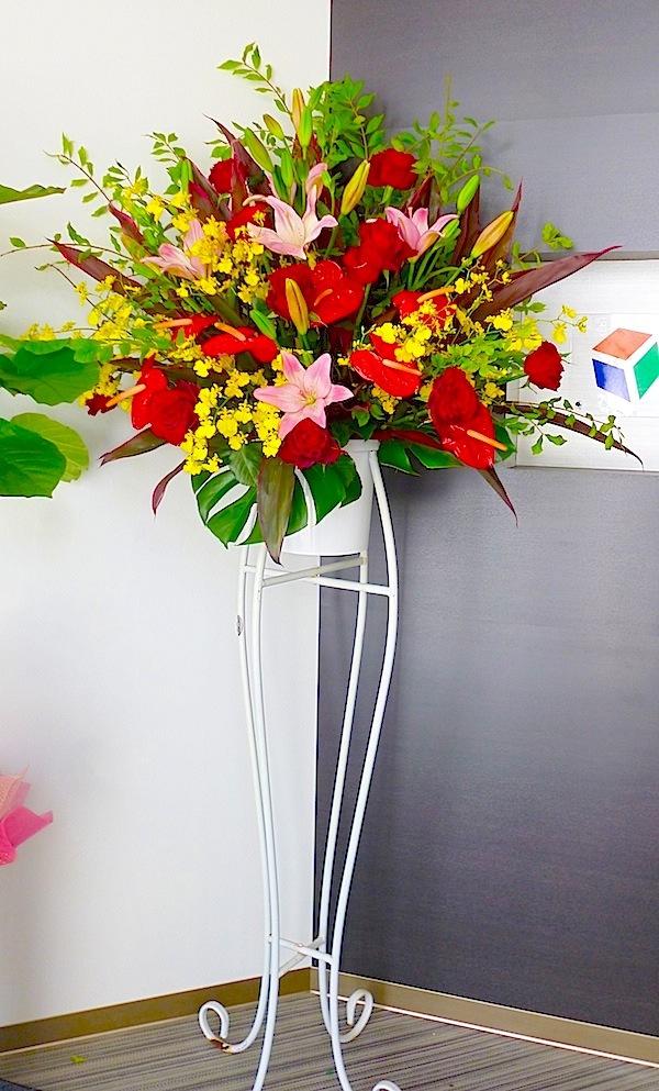 開店お祝い花(スタンド1段)