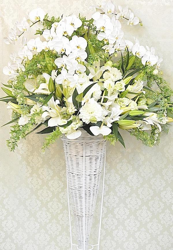 御祝いスタンド花 ホワイト系