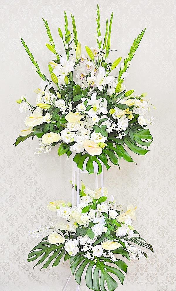 開店お祝いスタンド花(2段)