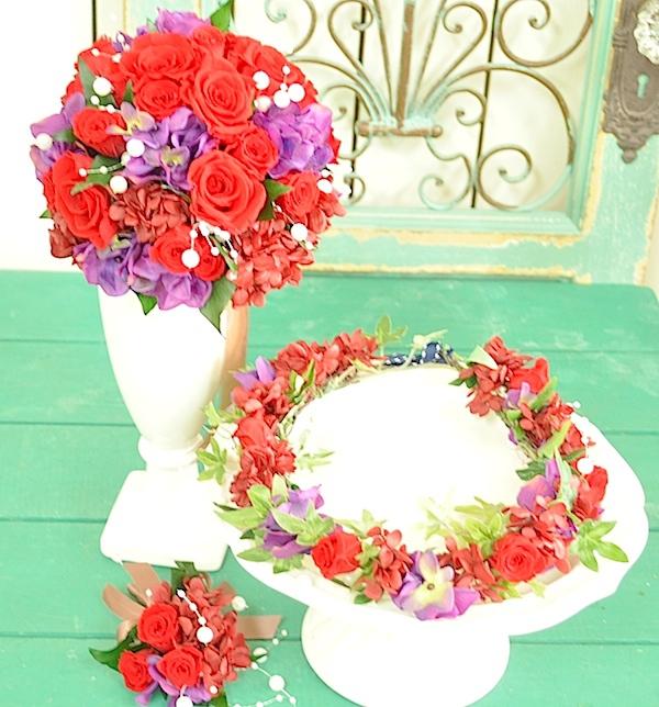 ブーケ&花冠のセット