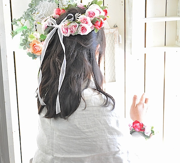 花冠とリストレットのセット