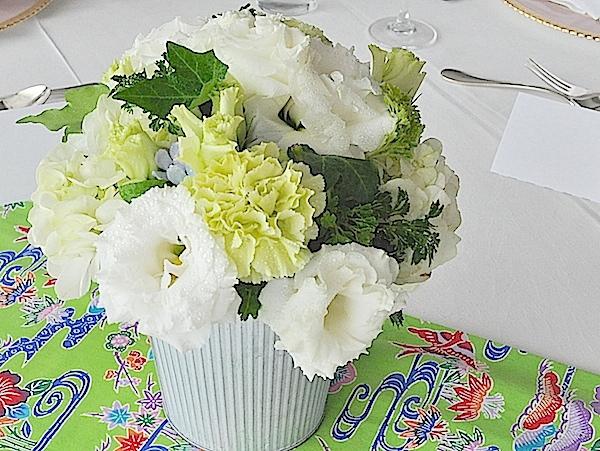 ゲストテーブル ホワイト&グリーン